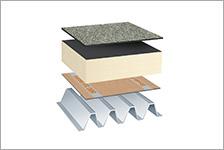 aufbau auf trapezblech flachdachsysteml sungen. Black Bedroom Furniture Sets. Home Design Ideas